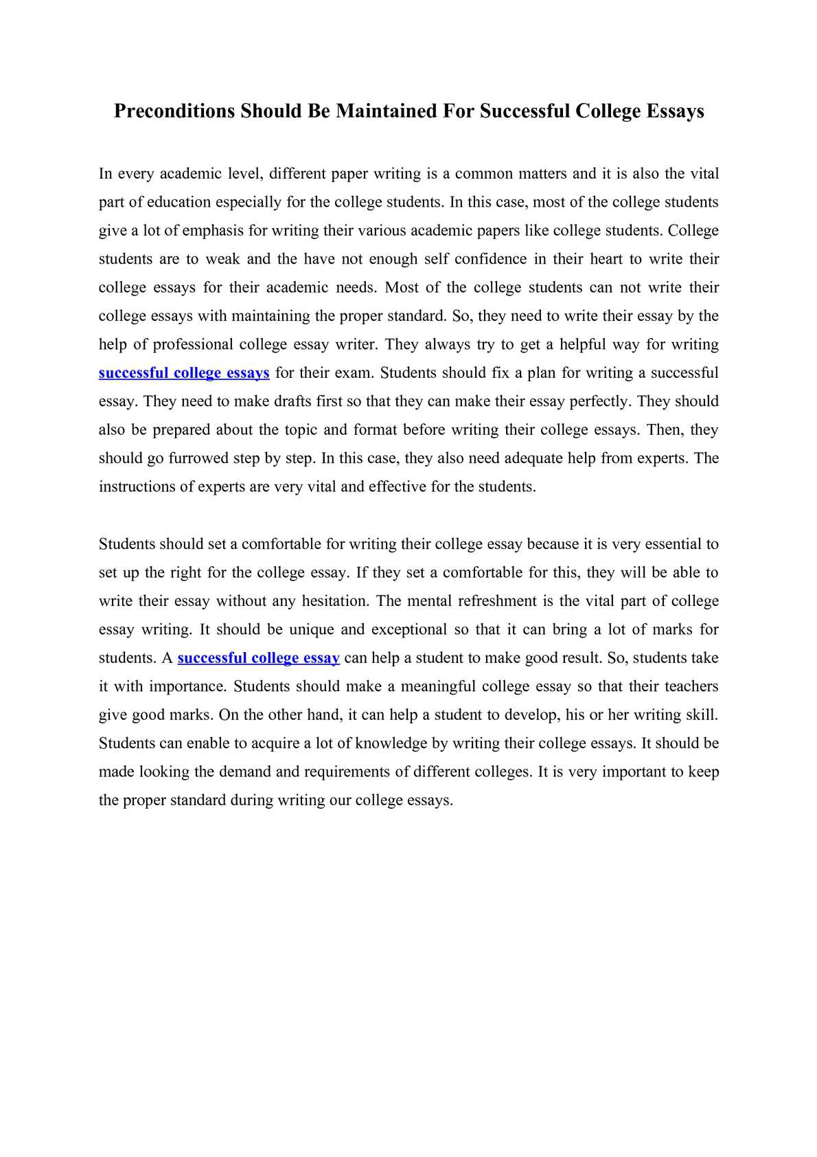 Why Is It Important To Go To College Essay Importance Of