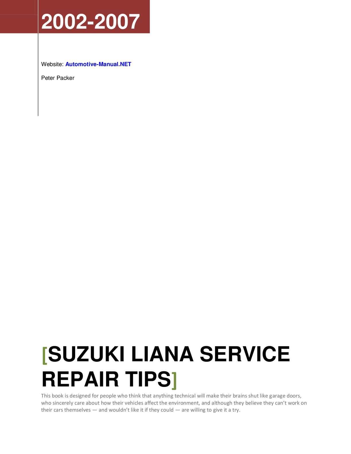 Suzuki Xl7 Repair Manual Download