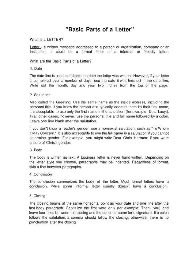 Calaméo - Basic Parts Of A Letter