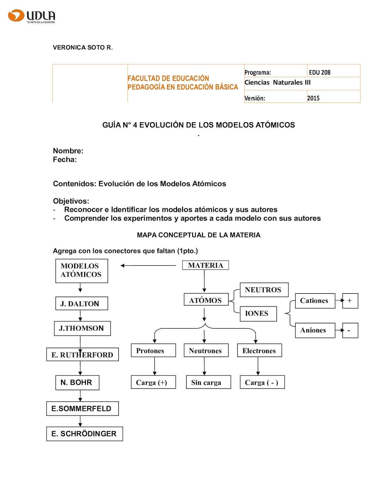 Calaméo Guia N4 Evolución De Los Modelos Atómicos 1