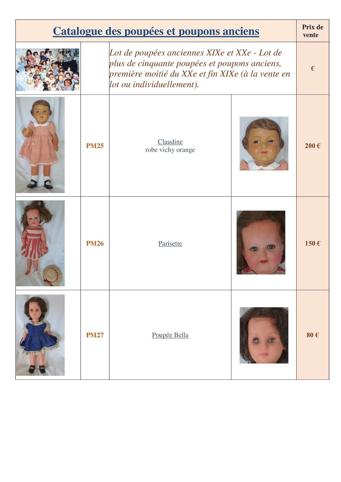 calameo catalogue poupees