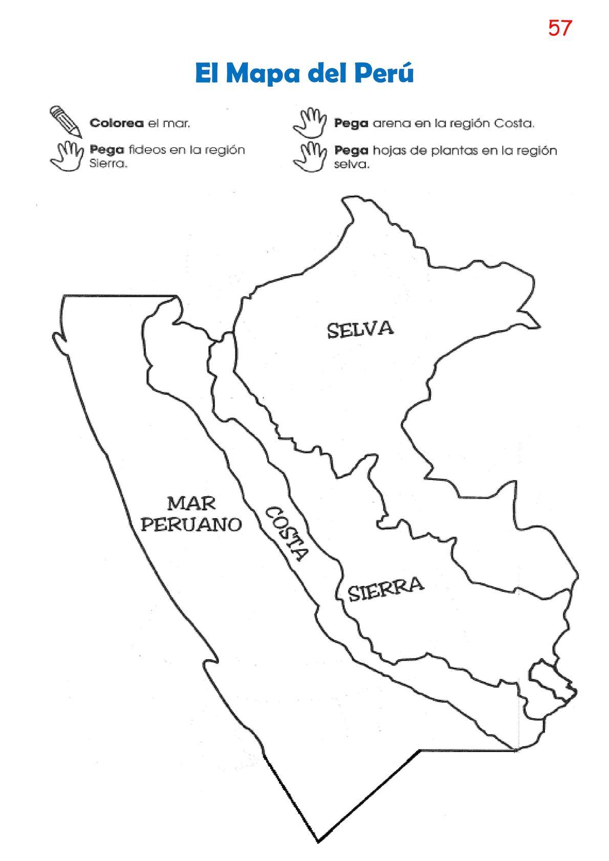 El Mapa Del Peru Costa Sierra Y Selva Para Colorear Mapa