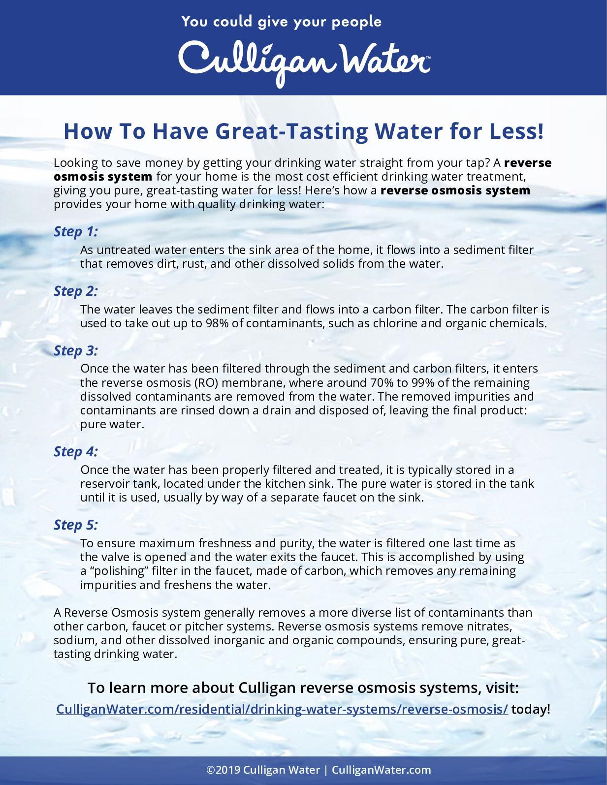 great tasting water