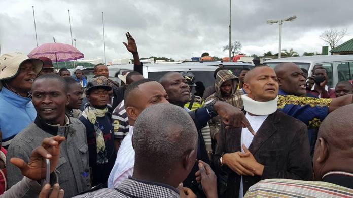 Moïse Katumbi au péage de Kasumbalesa, 28 janvier 2016