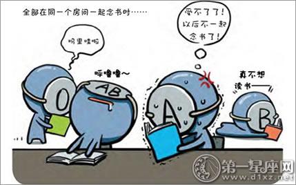 血型漫畫:天生注定!最會念書的血型君 - 第一星座網