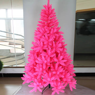 China 7FT Artificial Christmas Tree With Pink Color Made