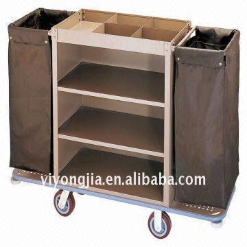 Multi Purpose Hotel Housekeeping Maid Cart Trolleystee
