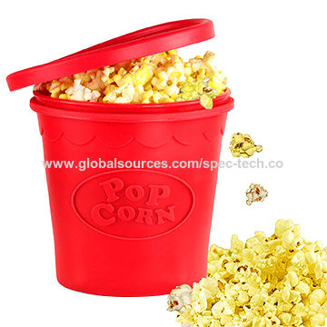 hot silicone microwave popcorn popper bucket