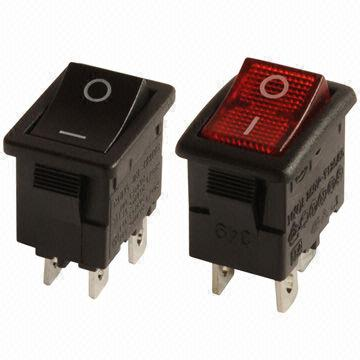 Taiwan Double Pole Mini Rocker Switches With Up To 12a