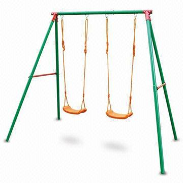 double patio swing set with powder