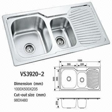 double bowl stainless steel kitchen