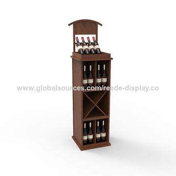 wine bottle display cabinet