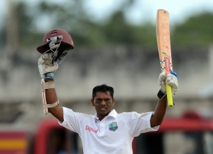 Shivnarine Chanderpaul's 25th Test century pushed West Indies into a strong position on the second day against Australia in Barbados