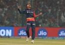 Sandeep Lamichhane celebrates his maiden IPL wicket, Delhi Daredevils v Royal Challengers Bangalore, IPL 2018, Delhi, May 12, 2018