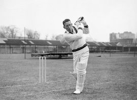 Roy Marshall bats in the nets, West Indies tour of England, Lord's, April 14, 1950