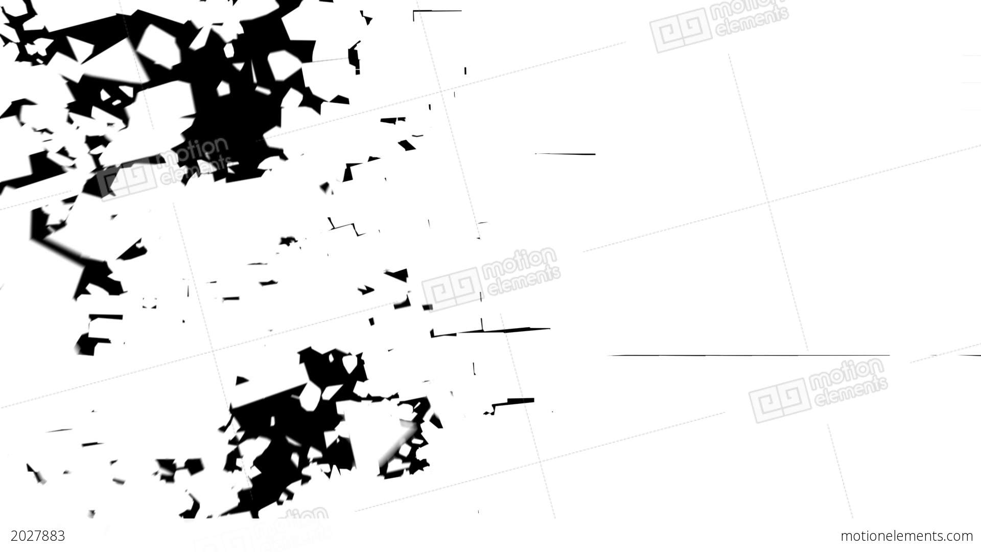 Breaking Brick Wall Stock Animation