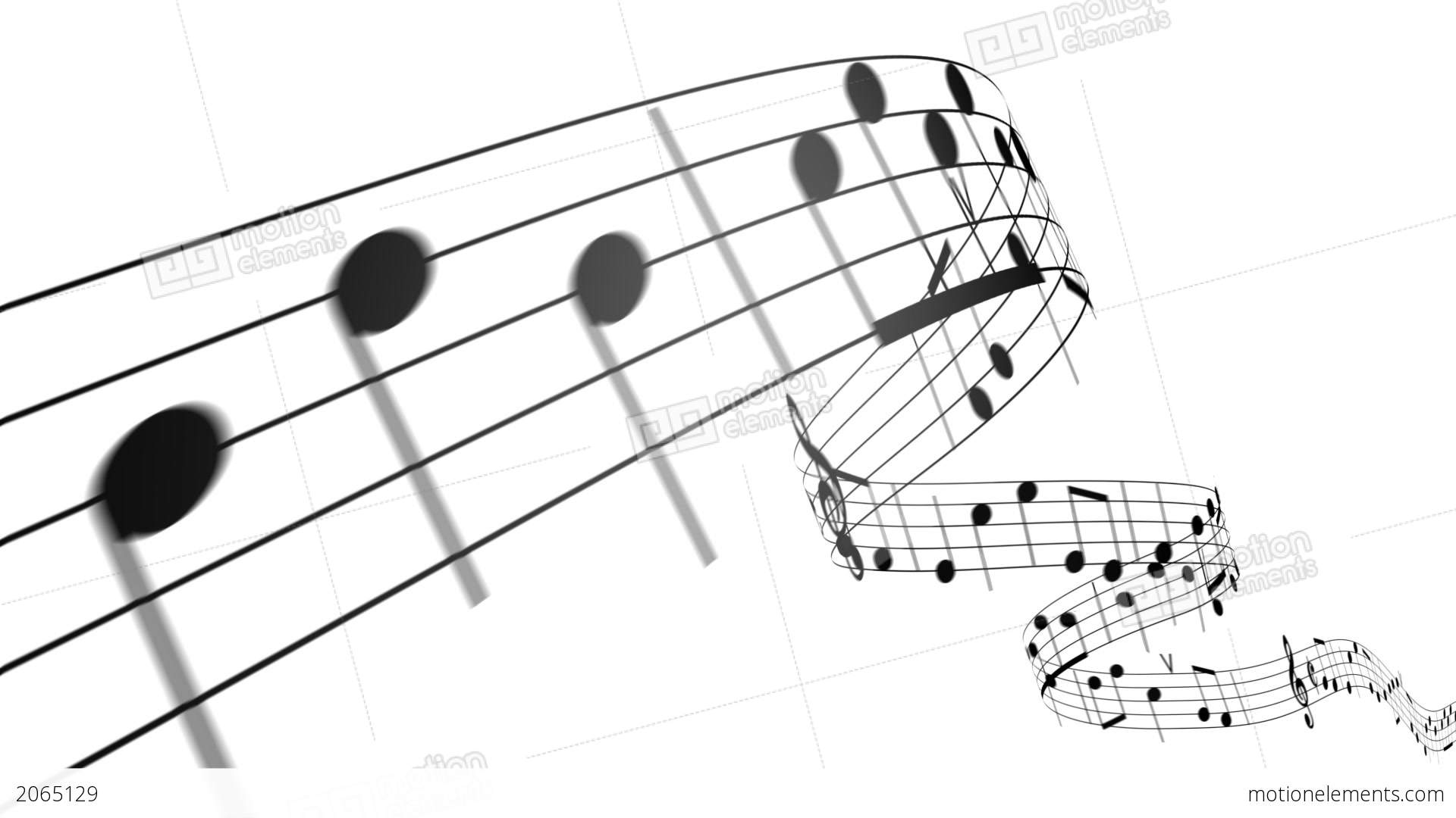 Music Notes In 3d Hd Loopable Stock Animation