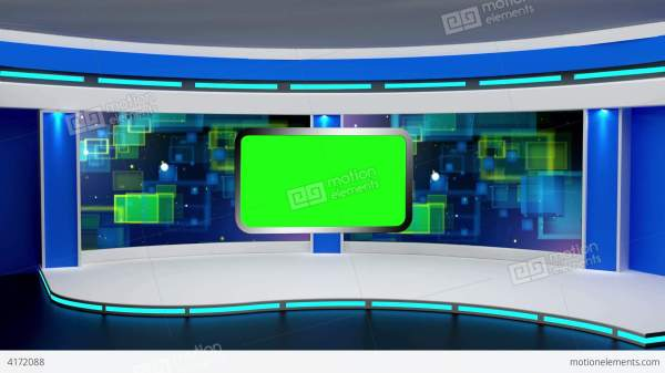 Education TV Studio Set 01 - Virtual Background Loop Stock ...