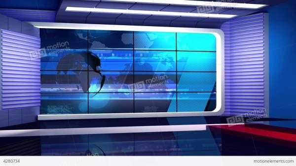 News TV Studio Set 35 - Virtual Background Loop Stock ...