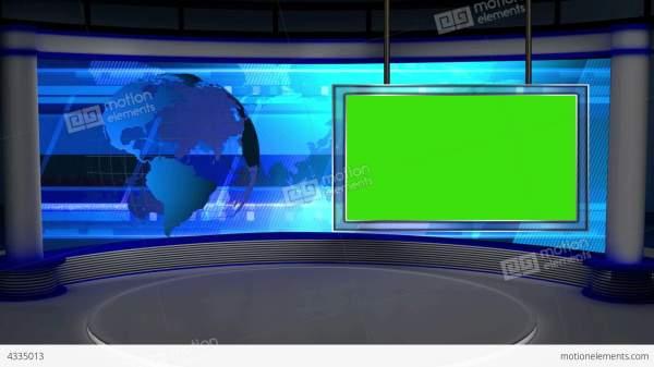 News TV Studio Set 28 - Virtual Background Loop Stock ...