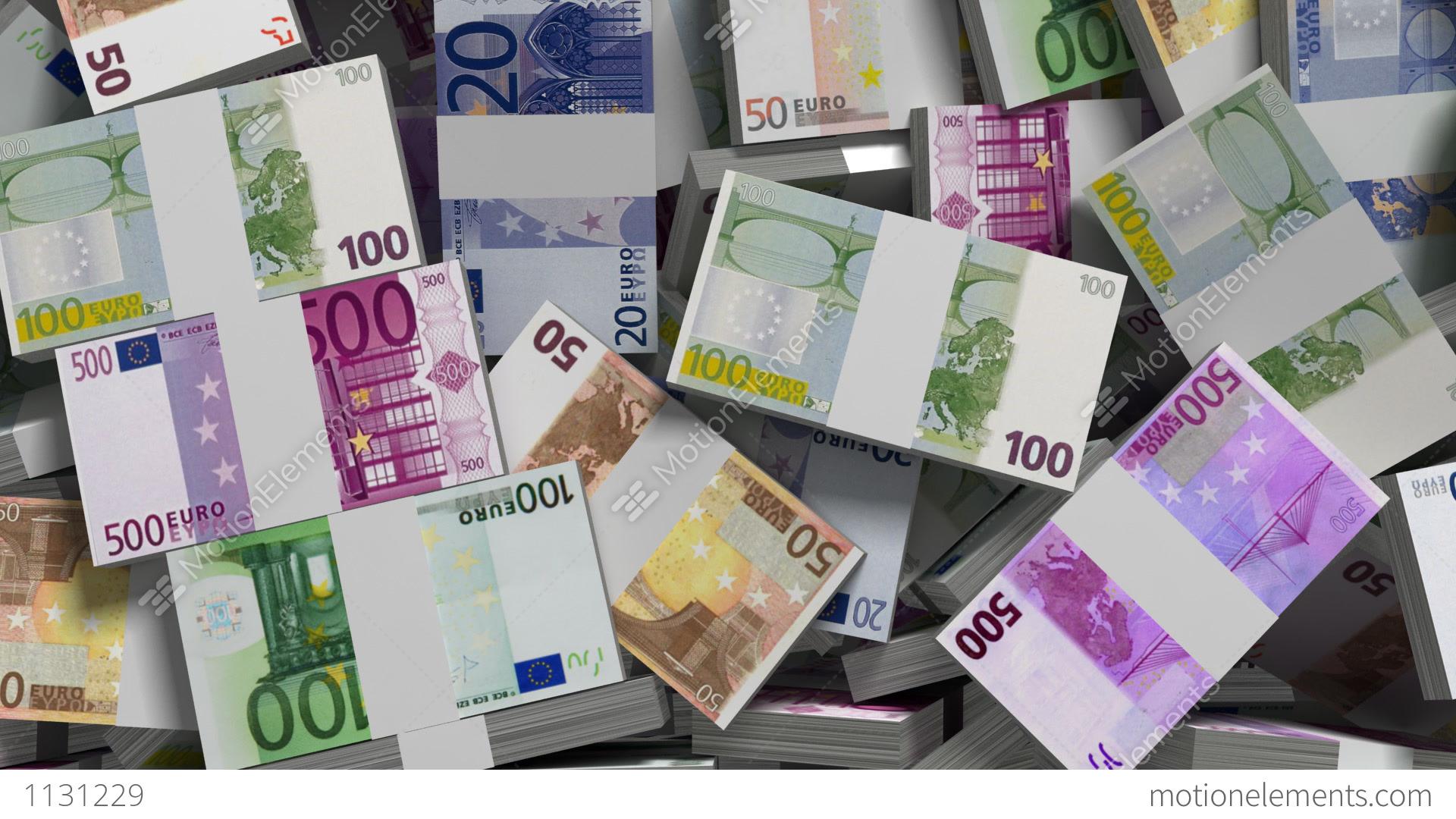 Making Money Euro Money Version Stock Animation