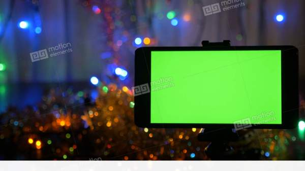 New Year's Background, In The Foreground A Smartphone With ...