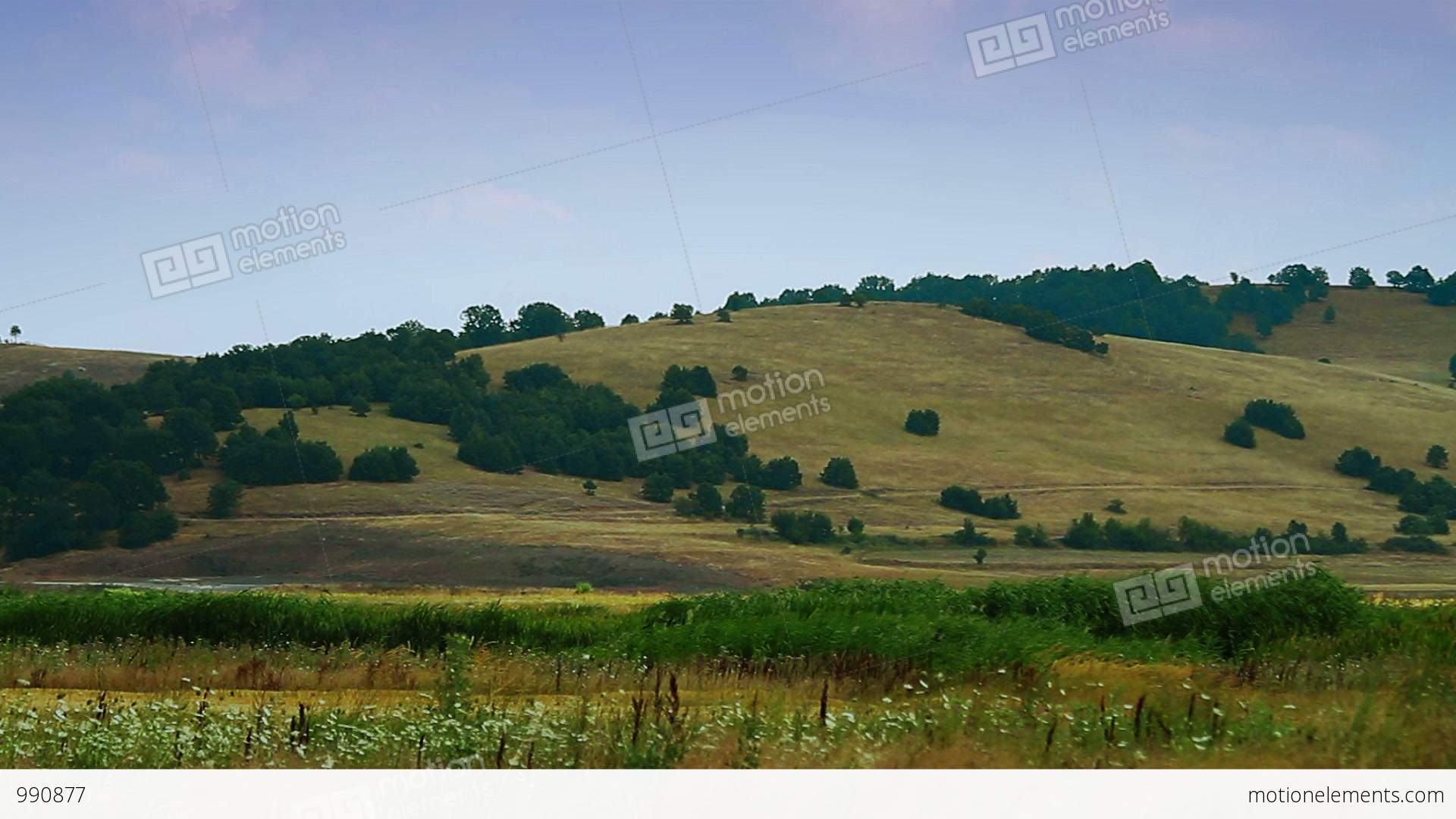 Rolling Hills Scenery Timelapse Stock Video Footage 990877