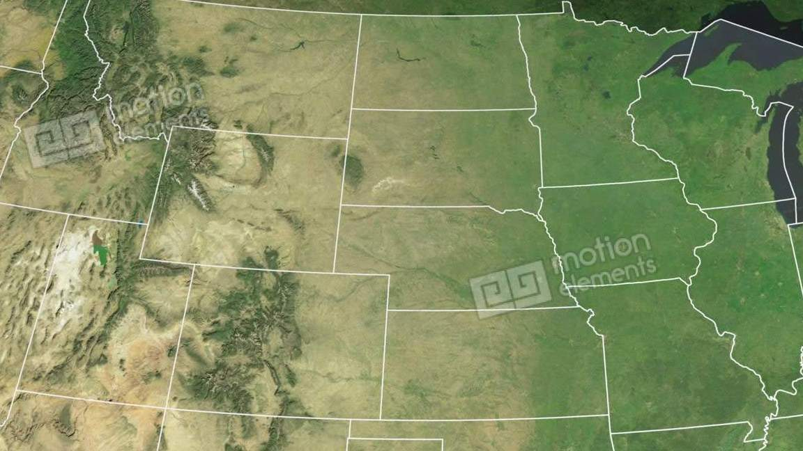 HD Decor Images » Iowa State  USA  Extruded  Satellite Map Stock Animation   6515156 Iowa state  USA  extruded  Satellite map Stock Video Footage