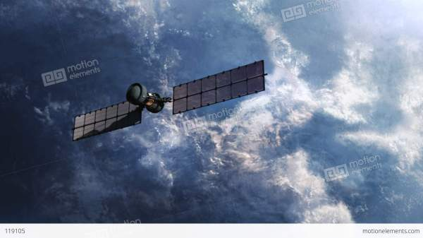 Military Spy Satellite Over Earth Surface Stock Animation ...
