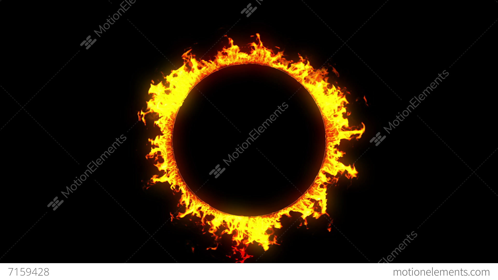 Beautiful Ring Of Fire Looped Hd Alpha Channel
