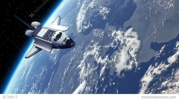 Space Shuttle Orbiting Earth Stock Animation 8729917