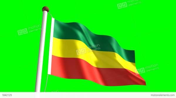 Ethiopia Flag Stock Animation 1842129