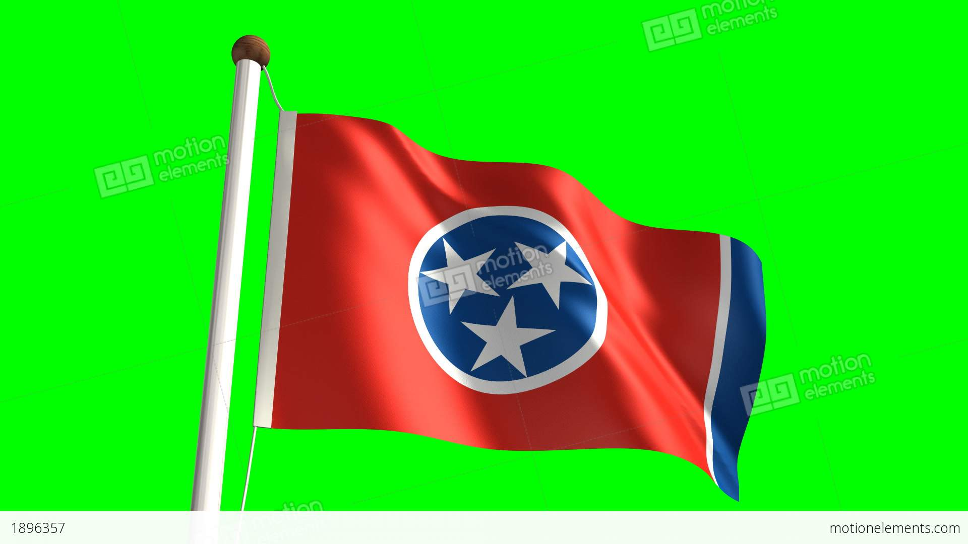 Tennessee Flag Stock Animation