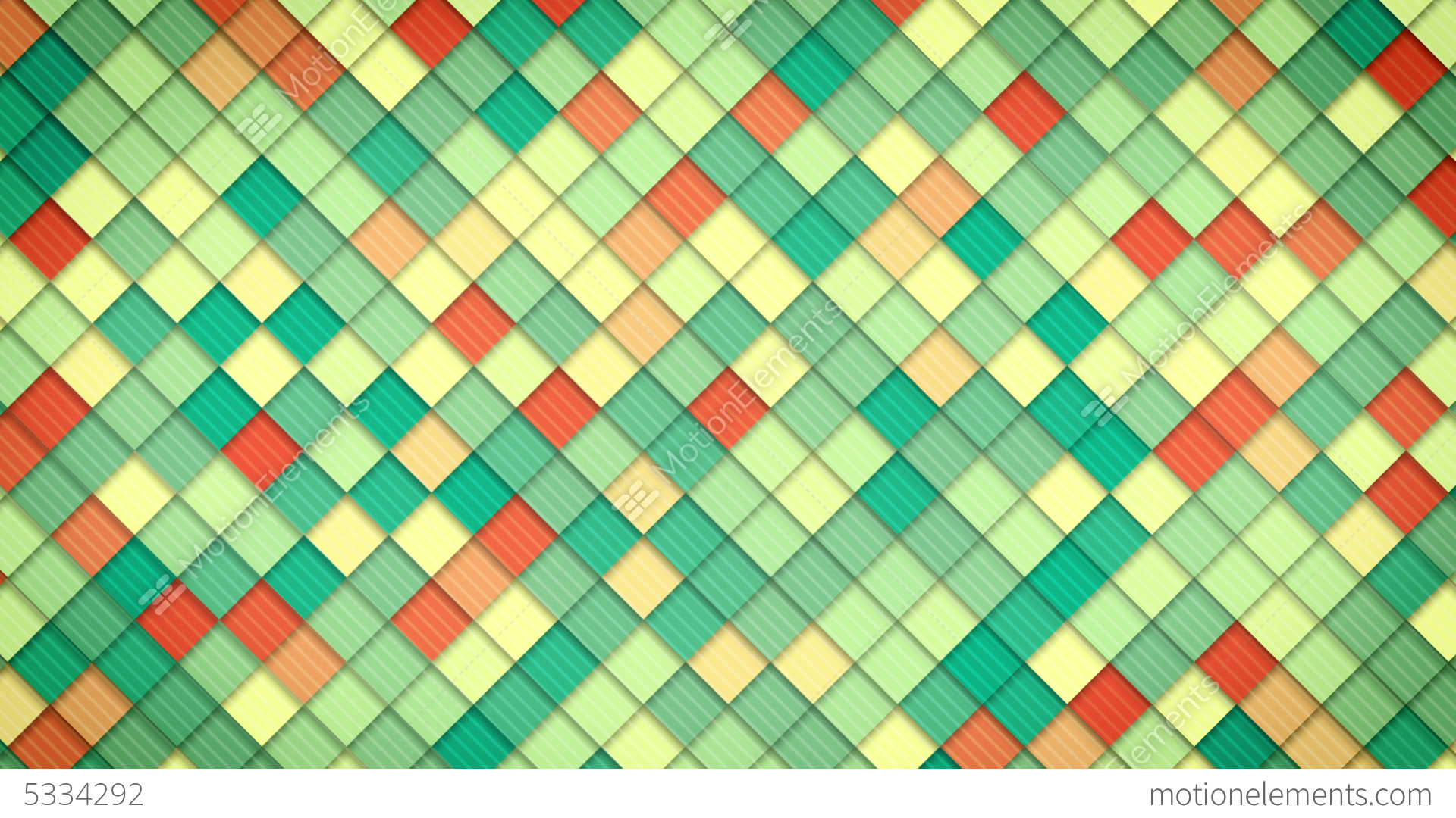 Geometric Pattern Of Colorful Squares Loop Stock Animation
