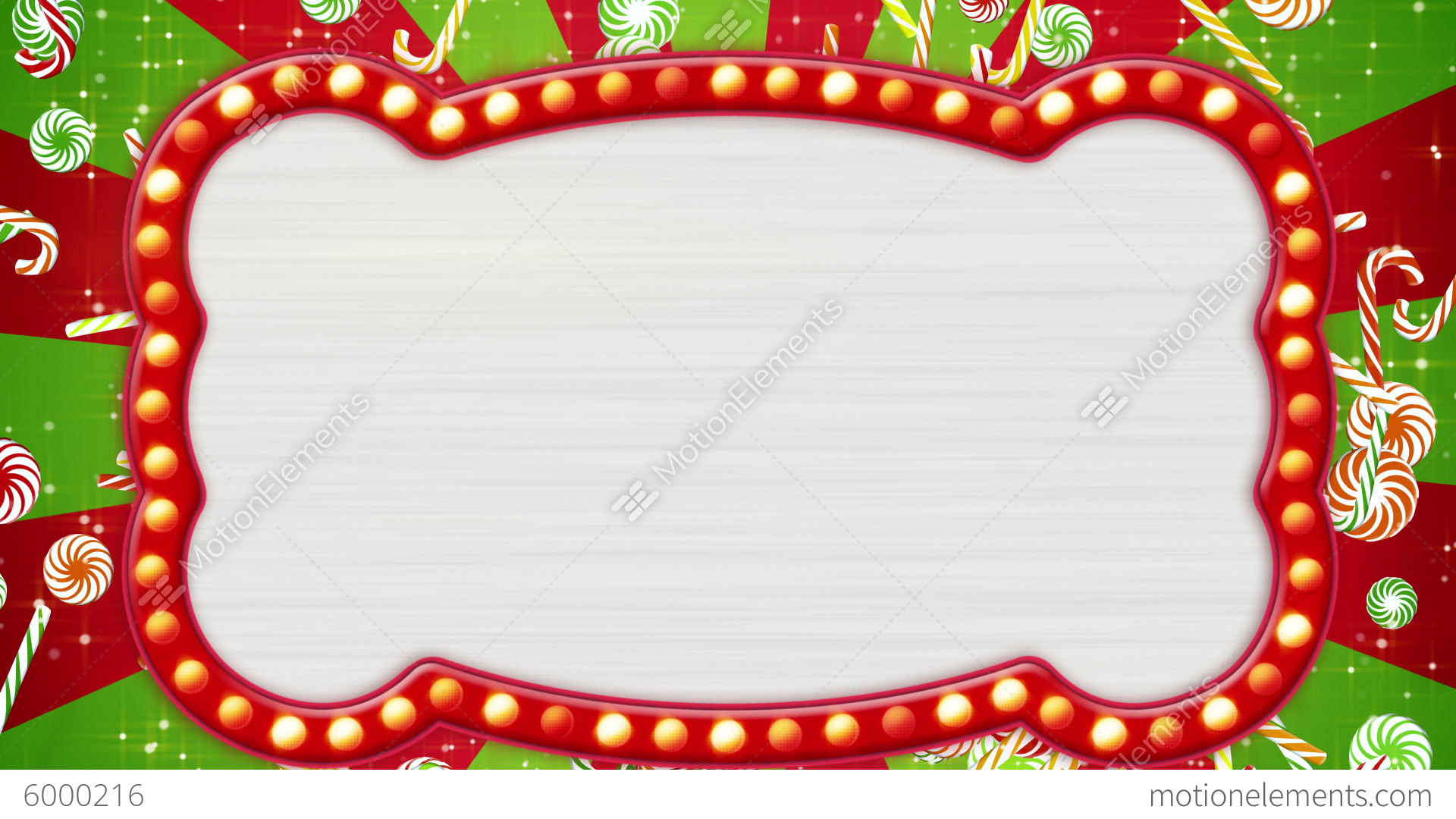 Flash Light Bulbs Banner And Christmas Candy Canes Stock