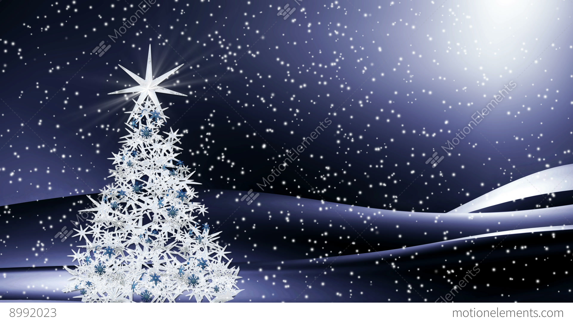 Snowy Night Christmas Decorations