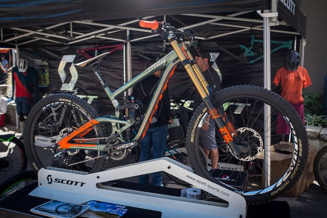 Brendan Fairclough's Scott Gambler for Rampage - PIT BITS - New 2017 Products from Crankworx Whistler - Mountain Biking Pictures - Vital MTB