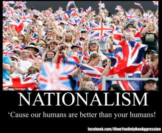 Image result for nationalism our humans better than your