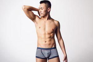 kubas,navy,stripe,elastic,cotton,waistband,boxers,underwear
