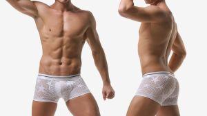 wantku,星星,網狀,好屌型,四角褲,男內褲,stars,mesh,enhancing bulge,boxers,underwear