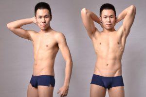 kubas,side opening,low waist,boxers,underwear