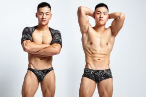 sequins,pattern,boxers,arms cover,underwear