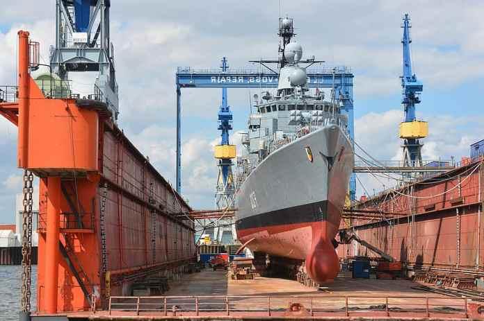 shipyard, shipbuilding, repair, bundeswehr, hamburg, blohm and voss,  frigate, renewal, cranes,