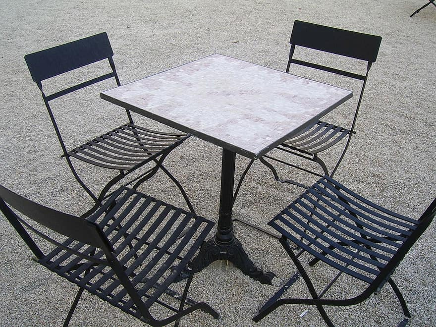 Table Chairs Outside Furniture House Decor Seat Dining Empty Comfortable Patio Pikist