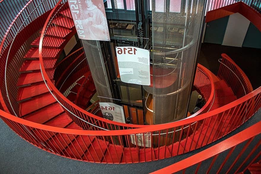 Stairs Elevator Architecture Staircase Building Modern Metal | Modern Metal Railings Interior | Modern Style | Horizontal | Wood | Simple | Custom