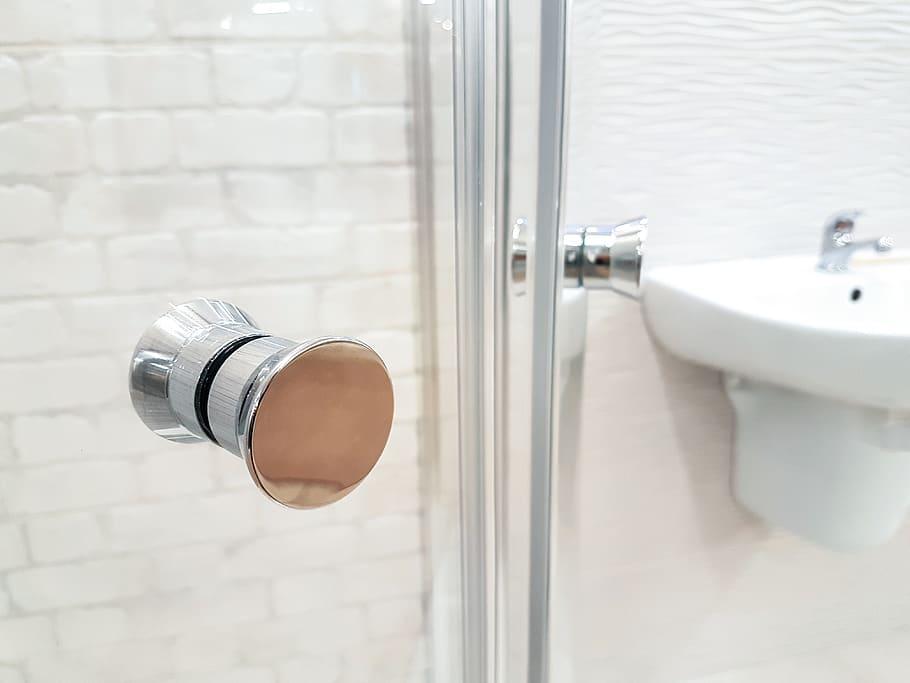 shower, bathroom, plumbing, hotel, hotel room, door handle, bath, apartment - Piqsels