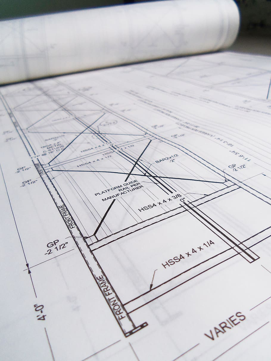 Blueprints Drawings Designs Paper Blueprint Planning Diagram Plan Piqsels