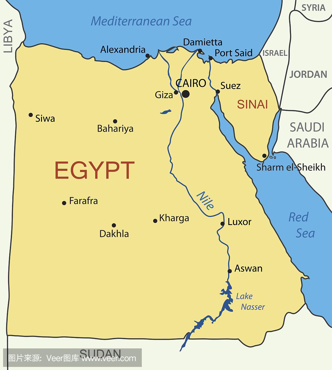 埃及尼羅河地圖_尼羅河流域 - 隨意貼