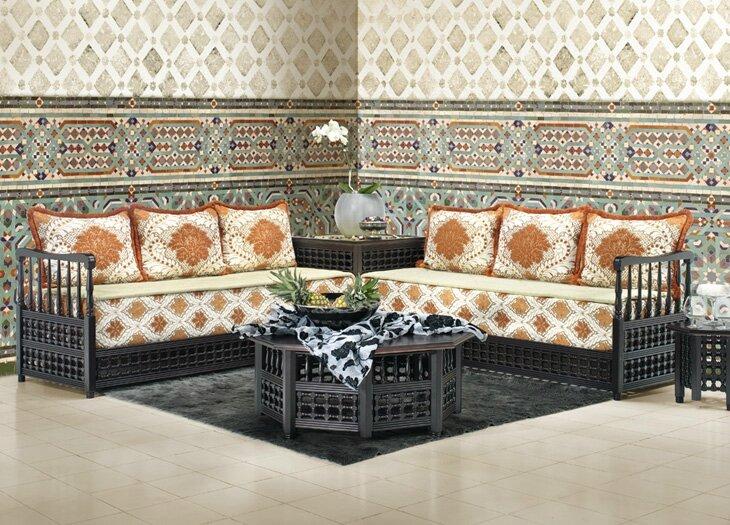 un salon marocain design moderne