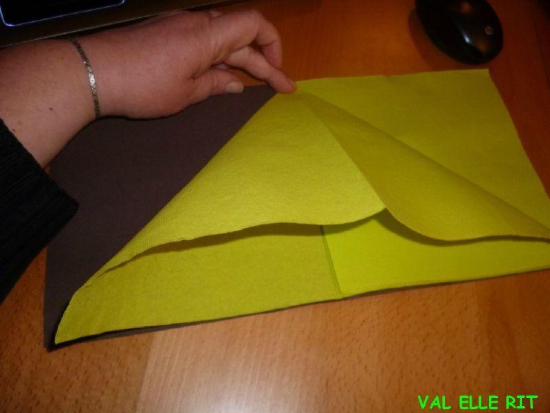 pliage serviette papier facile avec 2